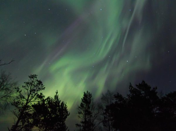 Norrsken vid solstormen den 17 mars 2015