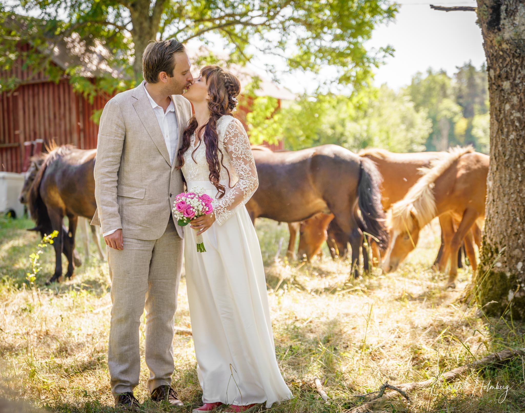 Bröllopsfotografering av Anna och Gustav